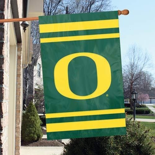 Ncaa College Oregon Ore Ducks Indoor Home Office Banners - Afuo - Oregon Ducks Appliqu Banner Flag AFUO