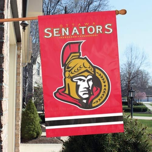 Ottawa Senators Appliqu Banner Flag - Afsen - Nhl Hockey Ottawa Senators Indoor Home Office Banners AFSEN