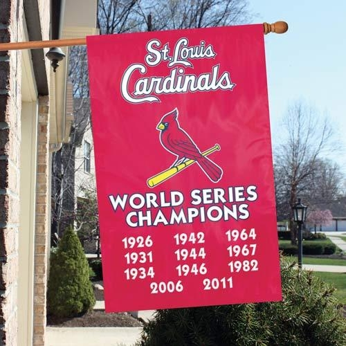 St. Louis Cardinals Appliqu Banner Flag - Afscc - Mlb Baseball St Louis Cardinals Kitchen Dining Tumblers And Pint Glasses AFSCC
