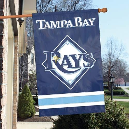 Tampa Bay Rays Appliqu Banner Flag - Aftbd - Mlb Baseball Tampa Bay Rays Kitchen Dining Tumblers And Pint Glasses AFTBD